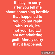 if i say im sorry after you tell me about something funny status