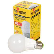 <b>Лампа светодиодная Navigator NLL-A60-10-230</b> 94387 10 Вт E27 ...