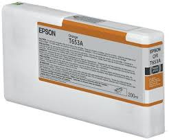 <b>EPSON T653A ORANGE</b> INK CARTRIDGE (<b>200ML</b>)