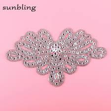 <b>new fashion</b> DMC <b>rhinestone</b> patches large size floral <b>design</b> luxury ...
