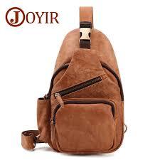 <b>Joyir</b> New High Capacity <b>Genuine Leather Chest</b> Bags Men ...