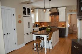 White Kitchen For Small Kitchens White Kitchen Island Table With Brown Wooden Counter Top For Small
