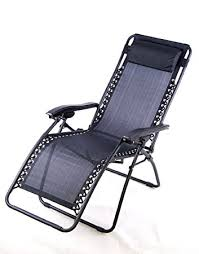 lounge patio chairs folding download: outsunny zero gravity recliner lounge patio pool chair black