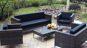 patio couch set patio black chair with cream cuhsion wicker patio set for
