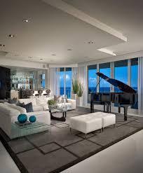 family room black piano