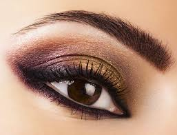 shadow and middot smoky eye look use black only for light brown eyes or else they might appear smaller