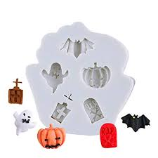 Leoie <b>Halloween</b> DIY <b>Baking Mold</b>, Skull Pumpkin Ghost Safe ...