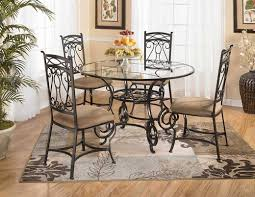 table stunning glass black set