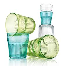 Стеклянный <b>стакан 480 мл</b> бирюзовый серия <b>Industrial</b> IVV ...