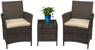 Devoko Patio Porch Furniture Sets 3 Pieces PE ... - Amazon.com