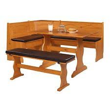 solid pine kitchen nook corner dining breakfast table bench booth cushion set breakfast nook table