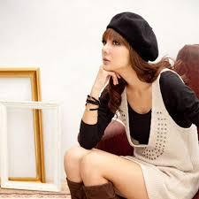 Online Shop 6 Colors <b>Autumn</b> Winter <b>Vintage</b> Hats <b>Womens</b> Sweet ...