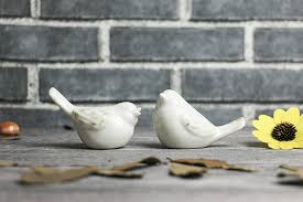 lovely <b>ceramic birds nordic</b> style white home decoration desktop ...