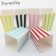 <b>JOY</b>-<b>ENLIFE 12pcs/lot</b> Colorful Mini Party Paper Popcorn Boxes ...