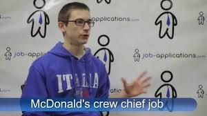 mcdonald s interview crew chief mcdonald s interview crew chief