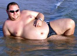 Resultado de imagen para fat guy in the beach