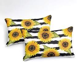 1 Duvet Cover 1 Pillowcase Twin, <b>Butterfly Sunflower</b> 66x90 ...