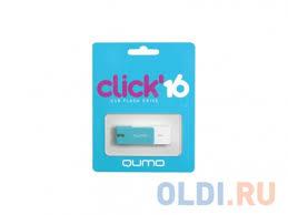 <b>Флешка</b> USB <b>16Gb QUMO</b> Click USB2.0 бело-голубой <b>QM16GUD</b> ...