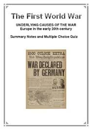 the ojays note and for the on pinterest history first world war summary notes and multiple choice quiz short questionsessay