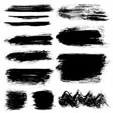 <b>Black hand painted</b> brush strokes Vector | Free Download