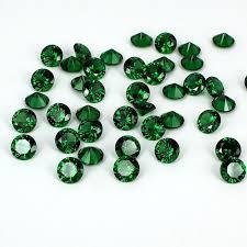 Emerald <b>Color</b> Cubic Zirconia Stones Beads Round Design ...
