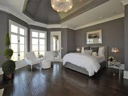 bedroom painting designs: interior design impressive grey wall interior painting ideas with grey bed frame on the wooden floor