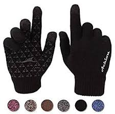 Achiou Winter <b>Knit</b> Gloves Touchscreen Warm Thermal Soft <b>Lining</b> ...
