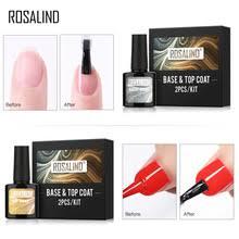 Основа и <b>верхнее покрытие для</b> ногтей ROSALIND, набор гель ...