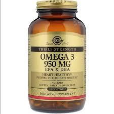<b>Solgar</b>, <b>Omega</b>-<b>3</b>, EPA & DHA, Triple Strength, <b>950</b> mg, 100 Softgels ...