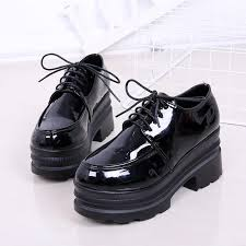 <b>Moxxy</b> New Arrival British Autumn Patent Leather Flatform <b>Shoes</b> ...