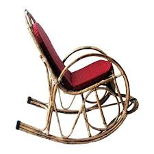 HM SERVICES <b>Bamboo</b> Cane <b>Rocking Chair</b> (Brown): Amazon.in ...