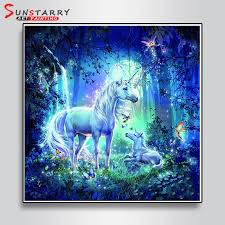Crafts 5D DIY <b>Unicorn Diamond</b> Painting Cube Diamonds ...