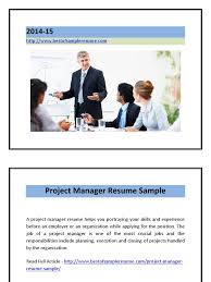 project manager resume sample pdf project manager