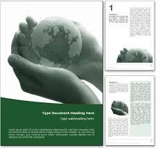 royalty  fragile earth microsoft word template in green fragile earth word template document