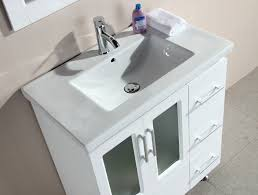 element contemporary bathroom vanity set:  design element stanton  white bath vanity set