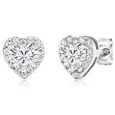 Gem Stone King 925 Sterling Silver Heart Shape ... - Amazon.com