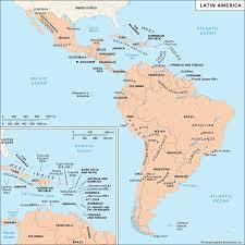 Latin America  location    Kids Encyclopedia   Children     s Homework     Kids Britannica Map Still Physical map of Latin America
