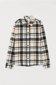Куртка-<b>рубашка из фланели</b> - Натуральный белый/Клетка ...