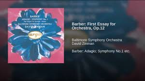barber first essay for orchestra op  barber first essay for orchestra op 12