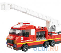 "<b>Конструктор</b> SLUBAN ""<b>Пожарные</b> спасатели"" - Грузовик с ..."
