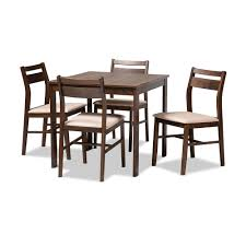 Dining Table And Chairs Room <b>5 Piece</b> Rubber Wood ...