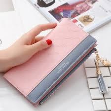 Women Wallets Leather Female <b>Purse Long Zipper Phone Bag</b> ...