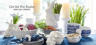 pottery barn style dining table: easter  easter