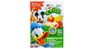 Brothers-All-Natural, <b>Fruit</b>-<b>Crisps</b>, <b>Disney</b> Junior, <b>Variety Pack</b>, 2 x 6 ...