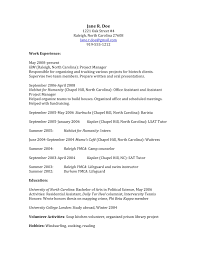 example of resume for principal