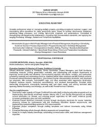 executive assistant resume example summary resume sample