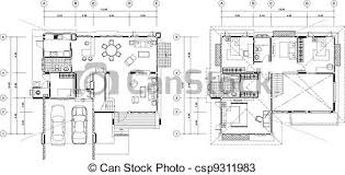 Vectors of House Plan csp   Search Clip Art  Illustration    House Plan   csp