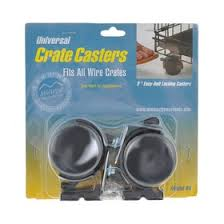 <b>Колёса для клеток Midwest</b> Universal Crate Caster универсальные ...