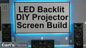 DIY How to Build <b>LED</b> Backlit <b>Projector Screen</b> with Carl's Place ...