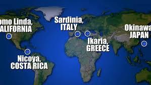 Afbeeldingsresultaat voor blue zones map